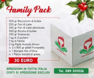 family pack - caseificio san leonardo - pacco natalizio formato famiglia